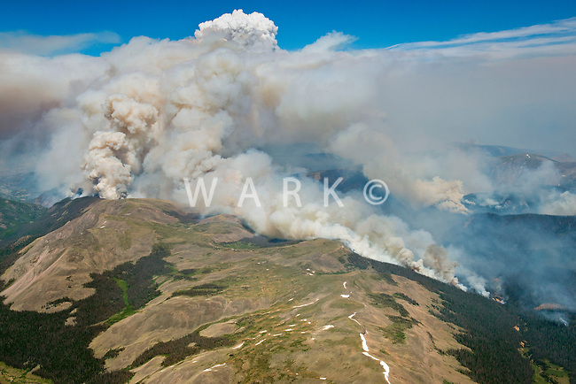 West Fork Complex wildfire near Pagosa Springs, Colorado. June 2013.