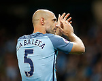 Pablo Zabaleta of Manchester City leaves the club during the English Premier League match at the Etihad Stadium, Manchester. Picture date: May 16th 2017. Pic credit should read: Simon Bellis/Sportimage