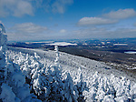 View from Saddleback Mountain in Sandy River Plantation, Maine, USA