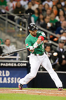 15 March 2009: #25 Jerry Hairston of Mexico hits the ball during the 2009 World Baseball Classic Pool 1 game 2 at Petco Park in San Diego, California, USA. Korea wins 8-2 over Mexico.