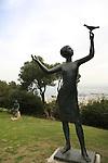 Israel, Haifa. The Sculptures Garden on Mount Carmel featuring sculptures of Ursula Malbin