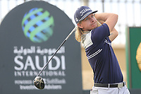 Maverick Antcliff  on the 18th tee during the 1st round of  the Saudi International powered by Softbank Investment Advisers, Royal Greens G&CC, King Abdullah Economic City,  Saudi Arabia. 30/01/2020<br /> Picture: Golffile | Fran Caffrey<br /> <br /> <br /> All photo usage must carry mandatory copyright credit (© Golffile | Fran Caffrey)