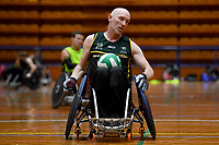 Jason Lees (AUS)<br /> Australian Steelers WC Training Camp<br /> Australian Wheelchair Rugby Team<br /> Australian Paralympic Committee<br /> Darwin NT / NTIS Stadium<br /> Monday 16 July 2018<br /> &copy; Sport the library / Jeff Crow