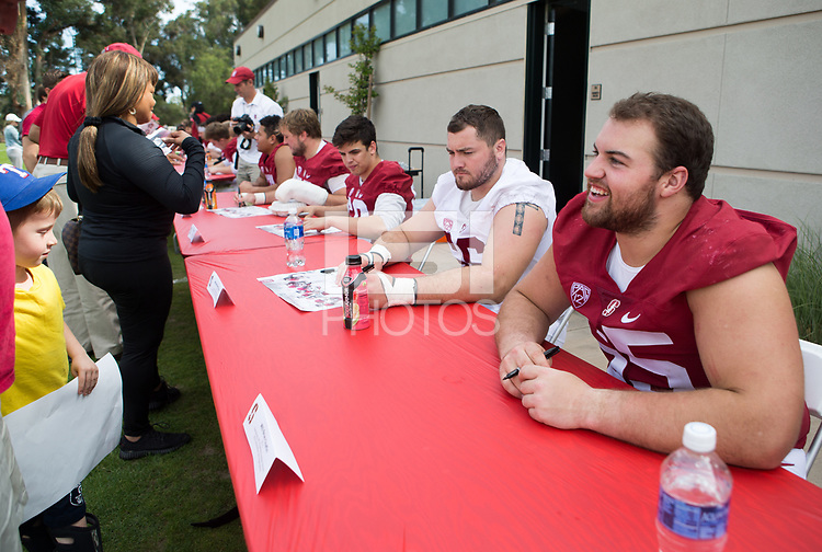 Stanford, CA - April15, 2017:  Harrison Phillips (66) Brian Chaffin (65) at Cagan Stadium.