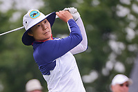 Tiffany Joh (USA) watches her tee shot on 1 during Friday's second round of the 72nd U.S. Women's Open Championship, at Trump National Golf Club, Bedminster, New Jersey. 7/14/2017.<br /> Picture: Golffile | Ken Murray<br /> <br /> All photo usage must carry mandatory copyright credit (&copy; Golffile | Ken Murray)