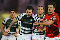 Aaron Penberthy of Ealing Trailfinders battles for the ball during the Greene King IPA Championship match between Ealing Trailfinders and London Welsh RFC at Castle Bar , West Ealing , England  on 26 November 2016. Photo by David Horn / PRiME Media Images