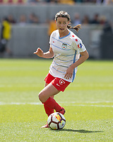 Sandy, UT - Saturday April 14, 2018: Taylor Comeau during a regular season National Women's Soccer League (NWSL) match between the Utah Royals FC and the Chicago Red Stars at Rio Tinto Stadium.