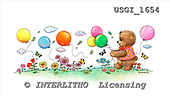GIORDANO, CUTE ANIMALS, LUSTIGE TIERE, ANIMALITOS DIVERTIDOS, Teddies, paintings+++++,USGI1654,#AC# teddy bears