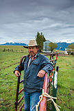 USA, Oregon, Enterprise, Portrait of Cowboy and Rancher Todd Nash at a ranch in North East Oregon between Enterprise and Joseph