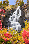 An image of autumn at Eagle Falls near Lake Tahoe in Claifornia