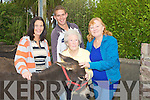 DONKEY: One of the many donkey's on sale at the Camp Fair, on Friday. l-r: Christina Landers (Annascaul), Steve Bradley (Tralee), Margaret Ashe (Camp) and Bridget O'Connor (Camp)..
