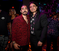 """LOS ANGELES - AUGUST 27: (L-R) Gino Vento and Antonio Jaramillo attend the post party at Sunset Room Hollywood following the season two red carpet premiere of FX's """"Mayans M.C"""" on August 27, 2019 in Los Angeles, California. (Photo by Frank Micelotta/FX/PictureGroup)"""