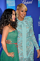 Salma Hayek & Mary J. Blige at the 2018 Palm Springs Film Festival Awards at Palm Springs Convention Center, USA 02 Jan. 2018<br /> Picture: Paul Smith/Featureflash/SilverHub 0208 004 5359 sales@silverhubmedia.com