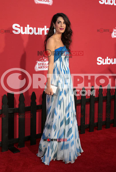 WESTWWOD, CA - October 22: Amal Clooney, At The Premiere Of Paramount Pictures' 'Suburbicon' At the Village Theatre California on October 22, 2017. Photo Credit: Faye Sadou /Media Punch /NortePhoto.com
