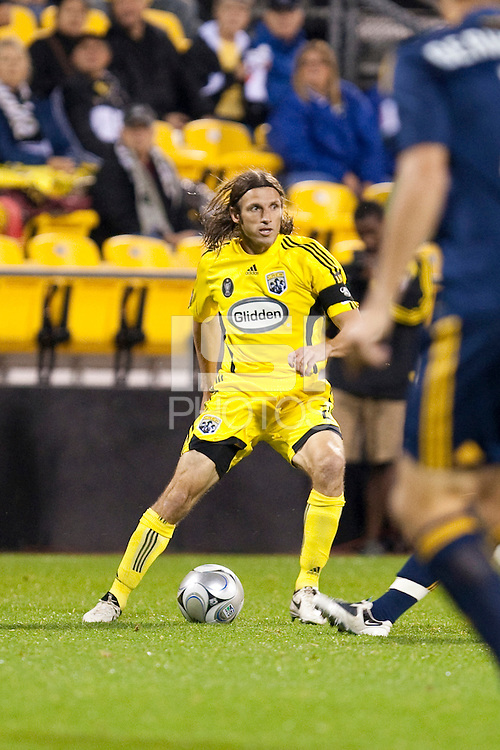 26 SEPTEMBAR 2009: #2 Frankie Hejduk, Columbus Crew defender during the Los Angeles Galaxy at Columbus Crew MLS game in Columbus, Ohio on May 27, 2009.