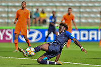 17th November 2019; Bezerrao Stadium, Brasilia, Distrito Federal, Brazil; FIFA U-17 World Cup football 3rd placed game 2019, Netherlands versus France; Arnaud Kalimuendo-Muinga of France stretches for the ball and scores his goal in the 22nd minute, 1-1<br />  - Editorial Use