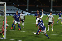 30th July 2020; Craven Cottage, London, England; English Championship Football Playoff Semi Final Second Leg, Fulham versus Cardiff City; Lee Tomlin of Cardiff City scores for 1-2 in the 47th minute