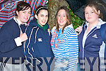 CERT: Moyderwell Presentation Secondary School Students keeping out of the rain just before the start of the 2008 Leaving Certificate on a very wet Wednesday morning l-r: Claire Godley, Natalie Murphy, Lorna Slattery and Richeal Gorham.   Copyright Kerry's Eye 2008