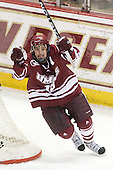 James Marcou (UMass - 19) - The Boston College Eagles defeated the University of Massachusetts-Amherst Minutemen 5-2 on Saturday, March 13, 2010, at Conte Forum in Chestnut Hill, Massachusetts, to sweep their Hockey East Quarterfinals matchup.