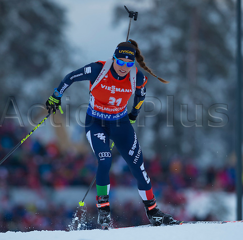 05.03.2016. Oslo Holmenkollen, Oslo, Norway. IBU Biathlon World Cup. Day One.  Dorothea Wierer of Italy competes in the Ladies 7.5km sprint competition during the IBU World Championships Biathlon in Holmenkollen Oslo, Norway.