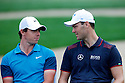 Rory McIlroy (NIR) and Martin Kaymer (GER) in action during the final round of the Abu Dhabi HSBC Golf Championship played at Abu Dhabi Golf Club, UAE 16-19 January 2014.(Picture Credit / Phil Inglis)