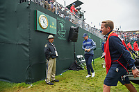 Bernd Wiesberger (AUT) departs the green on 18 following round 4 of the 2019 US Open, Pebble Beach Golf Links, Monterrey, California, USA. 6/16/2019.<br /> Picture: Golffile | Ken Murray<br /> <br /> All photo usage must carry mandatory copyright credit (© Golffile | Ken Murray)