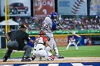 7 March 2009: #42 Julio Zuleta of Panama makes contact during the 2009 World Baseball Classic Pool D match at Hiram Bithorn Stadium in San Juan, Puerto Rico. Puerto Rico wins 7-0 over Panama.