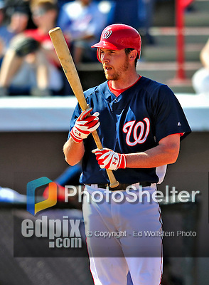8 March 2009: Washington Nationals' outfielder Ryan Langerhans in action during a Spring Training game against the New York Mets at Space Coast Stadium in Viera, Florida. The Nationals defeated the Mets 8-3 in the Grapefruit League matchup. Mandatory Photo Credit: Ed Wolfstein Photo