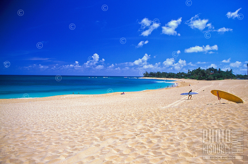 Renowned Sunset Beach. Located on the scenic north shore of Oahu. A very popular surfing destination during the winter months.