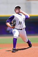 Starting pitcher Joe Serafin #38 of the Winston-Salem Dash in action against the Lynchburg Hillcats at  BB&T Ballpark July 11, 2010, in Winston-Salem, North Carolina.  Photo by Brian Westerholt / Four Seam Images