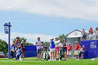 Michelle Wie (USA), Stacy Lewis (USA), and Sandra Gal (DEU)  prepare to tee off on 1 during Thursday's round 1 of the 2017 KPMG Women's PGA Championship, at Olympia Fields Country Club, Olympia Fields, Illinois. 6/29/2017.<br /> Picture: Golffile | Ken Murray<br /> <br /> <br /> All photo usage must carry mandatory copyright credit (&copy; Golffile | Ken Murray)