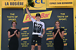 Geraint Thomas (WAL) Team Sky wins Stage 11 of the 2018 Tour de France running 108.5km from Albertville to La Rosiere Espace San Bernardo, France. 18th July 2018. <br /> Picture: ASO/Pauline Ballet | Cyclefile<br /> All photos usage must carry mandatory copyright credit (&copy; Cyclefile | ASO/Pauline Ballet)