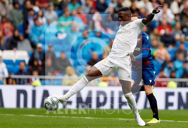 Real Madrid CF's Vinicius Jr during La Liga match. Aug 24, 2019. (ALTERPHOTOS/Manu R.B.)