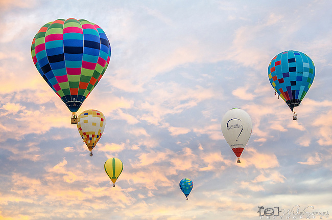 Hot Air Balloons at the Canowindra Balloon Challenge in NSW Australia.