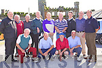 Listowel Golf Club Team members who competed in the Ballyheigue Castle Golf Club at Ballyheigue Castle Golf Club on Saturday were front l/r Peter McGrath, Danny Logue, Dan Sheehan and John Looney, standing l/r P. O'Sullivan, J. Molineaux, William Enright, M.F. Barrett, Willie Wixted, Pat Doody, Tom O'Donnell, Tom McElligot and Brendan Stack (manager)........................................................................................................................................................................................................................................................... ............