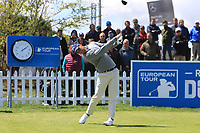 Matteo Manassero (ITA) on the 1st tee during Round 2 of the Open de Espana 2018 at Centro Nacional de Golf on Friday 13th April 2018.<br /> Picture:  Thos Caffrey / www.golffile.ie<br /> <br /> All photo usage must carry mandatory copyright credit (&copy; Golffile | Thos Caffrey)