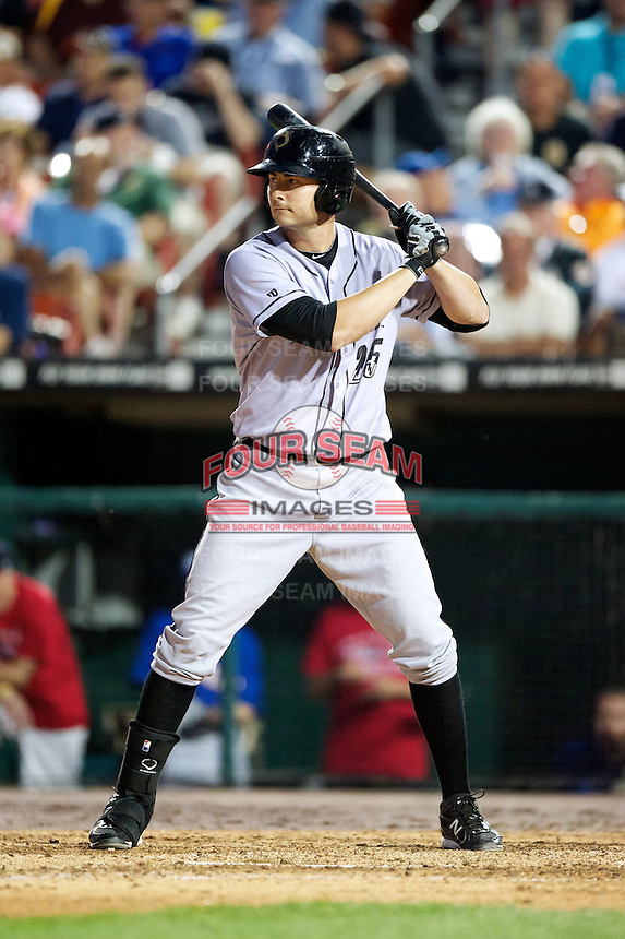 Omaha Storm Chasers outfielder Clint Robinson #25 at bat during the Triple-A All-Star game featuring the Pacific Coast League and International League top players at Coca-Cola Field on July 11, 2012 in Buffalo, New York.  PCL defeated the IL 3-0.  (Mike Janes/Four Seam Images)