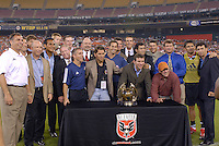 DC United orginzation held a pregame ceremony to recognize members of the inaugural 1996 MLS season and champion DC United team.  DC United defeated the New York Red Bulls 4-3. DC United earned a top seed in the 2006 MLS Playoffs and will enjoy home field advantage for the entire Eastern Conference Playoffs.  Saturday, September 23, 2006, at RFK Stadium.