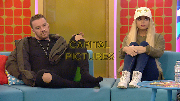 Celebrity Big Brother 2017<br /> Jamie O'Hara, Bianca Gascoigne<br /> *Editorial Use Only*<br /> CAP/KFS<br /> Image supplied by Capital Pictures