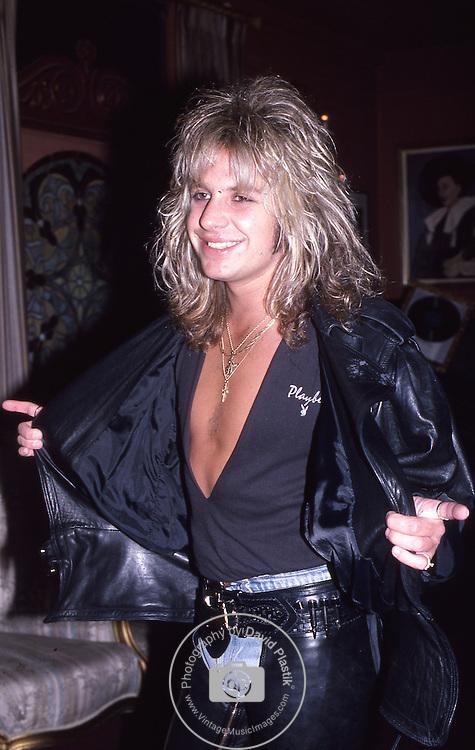 Vince Neil of Motley Crue in Hollywood Feb 1986.