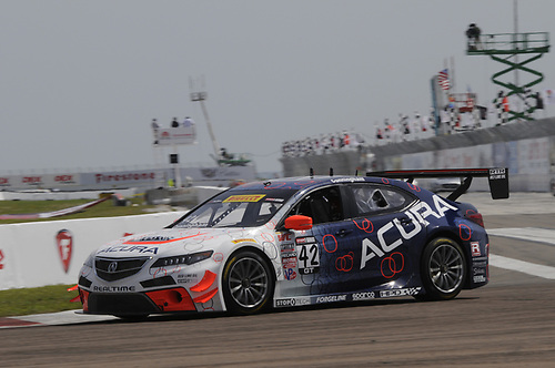 28 March, 2015, St Petersburg, Florida, USA<br /> #42 Peter Cunningham, Acura TLX-GT<br /> © 2015, Jay Bonvouloir, ESCP