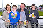 Mary Pat Moloney, P.J. Moloney, Jim Moloney, Jack Moloney enjoying the Listowel Races on Sunday