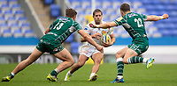 Exeter Chiefs' Santiago Cordero in action during todays match<br /> <br /> Photographer Bob Bradford/CameraSport<br /> <br /> Aviva Premiership Round 20 - London Irish v Exeter Chiefs - Sunday 15th April 2018 - Madejski Stadium - Reading<br /> <br /> World Copyright &copy; 2018 CameraSport. All rights reserved. 43 Linden Ave. Countesthorpe. Leicester. England. LE8 5PG - Tel: +44 (0) 116 277 4147 - admin@camerasport.com - www.camerasport.com