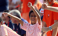Fans have fun despite the Virginia loss to Ball State during the football game Saturday Oct. 5, 2013 at Scott Stadium in Charlottesville, VA. Ball State defeated Virginia 48-27. Photo/The Daily Progress/Andrew Shurtleff
