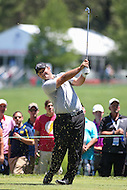 Bethesda, MD - June 25, 2016: Patrick Reed (USA) tee shot during Round 3 of professional play at the Quicken Loans National Tournament at the Congressional Country Club in Bethesda, MD, June 25, 2016.  (Photo by Elliott Brown/Media Images International)
