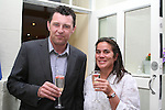 Owen Murphy from Wines Direct with Sonia Alewood at the Opening of D'Vine Restaurant, Dyer Street...Photo NEWSFILE/Jenny Matthews.(Photo credit should read Jenny Matthews/NEWSFILE)....This Picture has been sent you under the condtions enclosed by:.Newsfile Ltd..The Studio,.Millmount Abbey,.Drogheda,.Co Meath..Ireland..Tel: +353(0)41-9871240.Fax: +353(0)41-9871260.GSM: +353(0)86-2500958.email: pictures@newsfile.ie.www.newsfile.ie.FTP: 193.120.102.198.