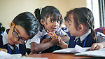 Girls in class in Suihari in northern Bangladesh.
