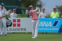 Ayako Uehara watches her drive off of the 2nd tee during Round 3 at the ANA Inspiration, Mission Hills Country Club, Rancho Mirage, Calafornia, USA. {03/31/2018}.<br />