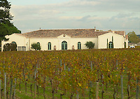 Vineyard. Winery building. Chateau Petrus, Pomerol, Bordeaux, France