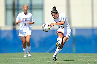 26 September 2010:  FIU's Kassandra Sorzano (10) passes the ball in the second half as the FIU Golden Panthers defeated the Arkansas State Red Wolves, 1-0 in double overtime, at University Park Stadium in Miami, Florida.